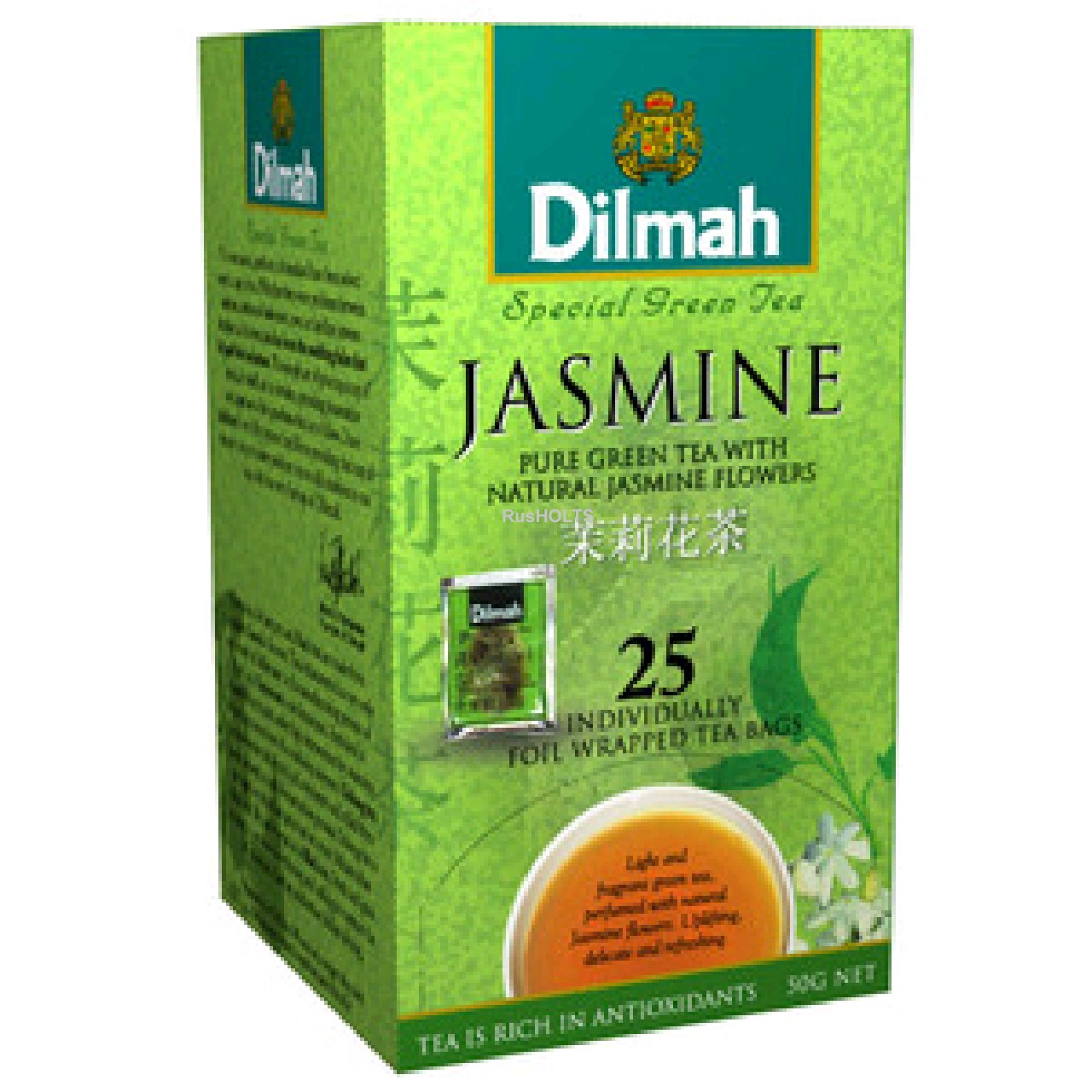 Чай Dilmah зеленый Jasmine уп 25 пак