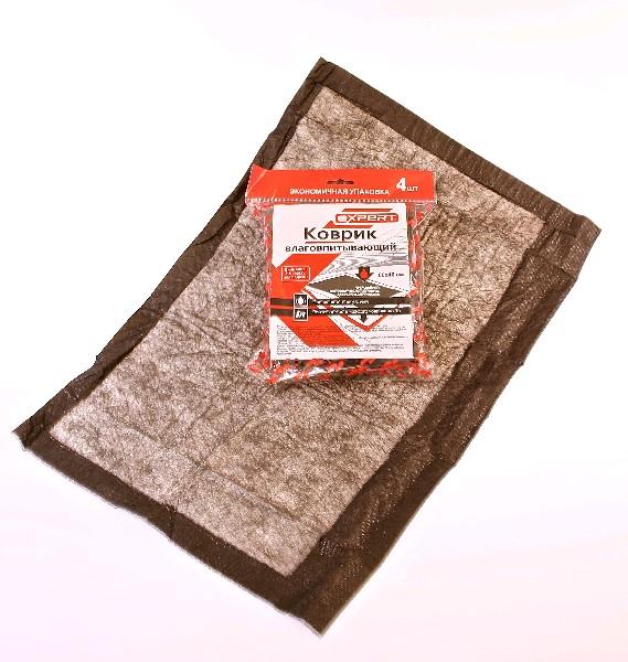 EXPERT Влаговпитывающий коврик для автомобиля 4 шт, 40х60 см