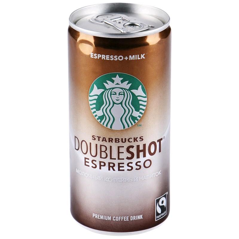 Молочный кофейный стерилизованный напиток Starbucks Doubleshot® Espresso 200 мл/12 шт