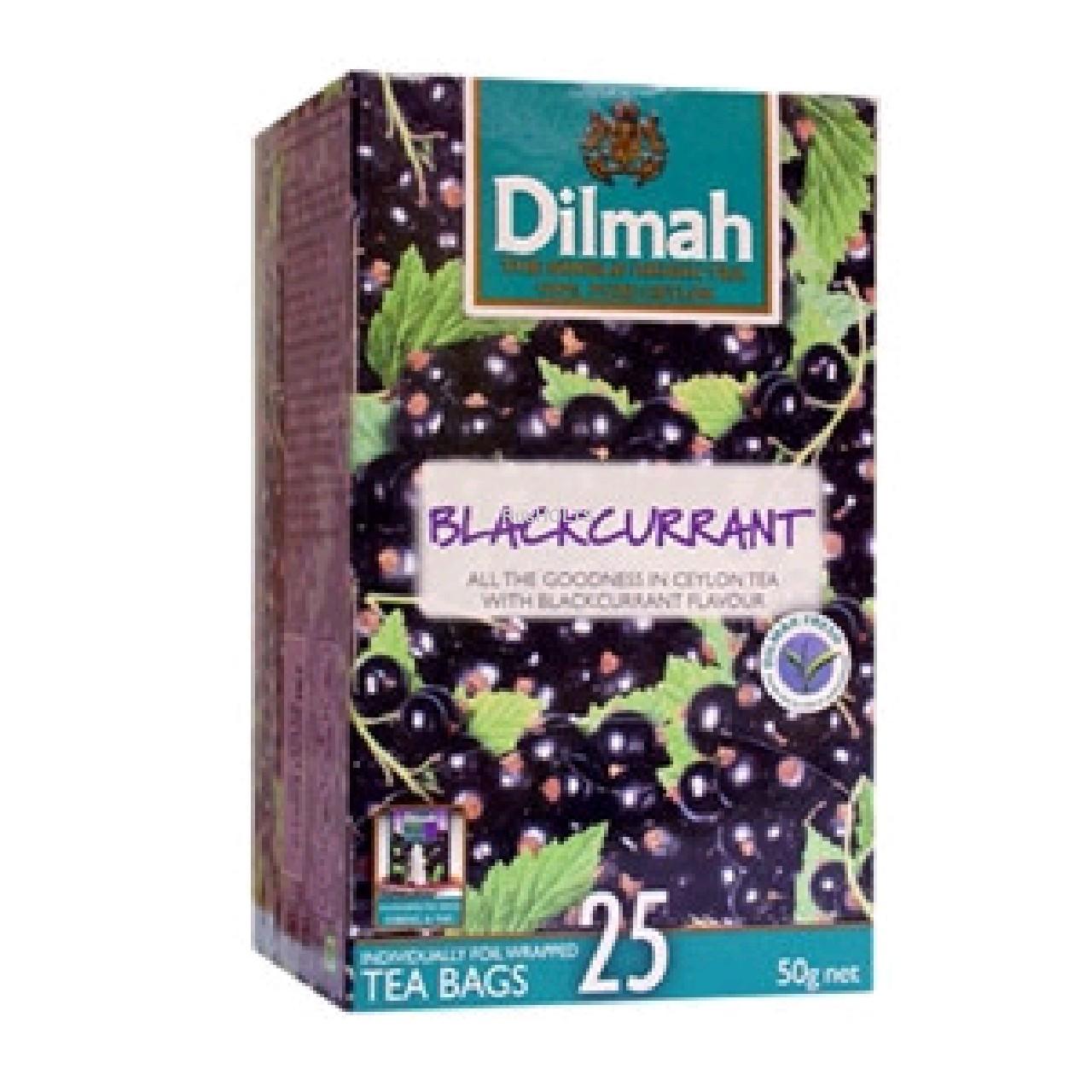 Чай Dilmah черный Blackcurrant уп 25 пак