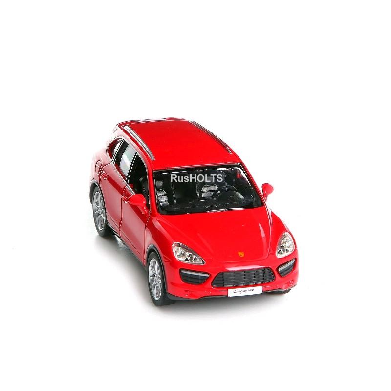 Игр.модель 1:32 Porsche Cayenne Turbo, инерционная, цвет: красный матовый