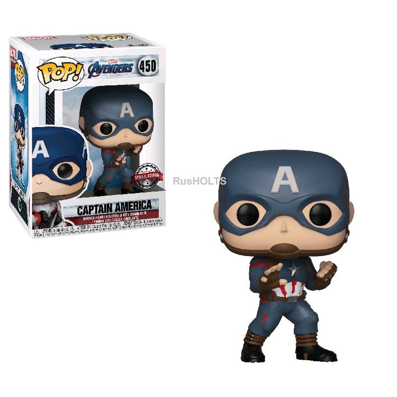 Funko Фигурка POP! Bobble: Marvel: Avengers Endgame: Captain America 36661