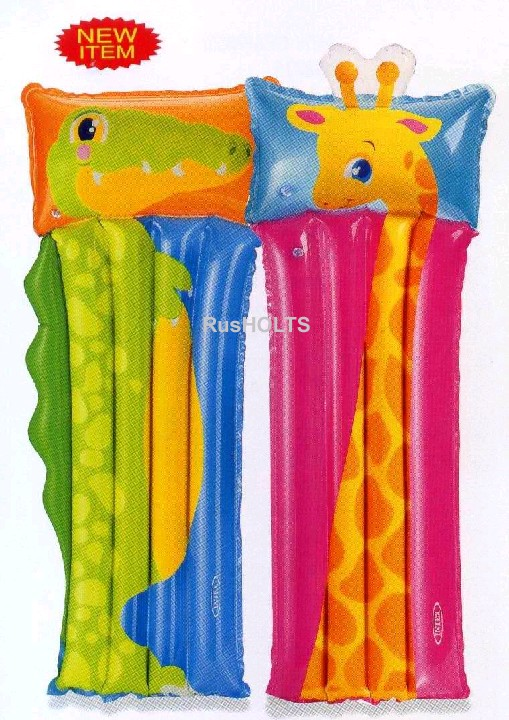 INTEX Матрац Животные, с подушкой, 2 вида