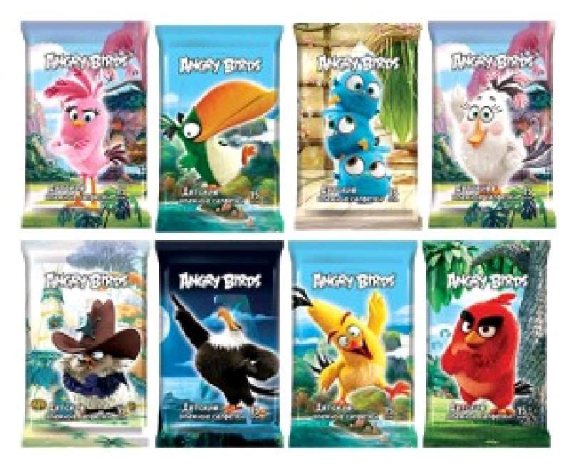 Angry Birds Влажные детские салфетки 15 шт
