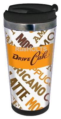 DRIVE CAFE Термокружка 350мл, пластик, coffe