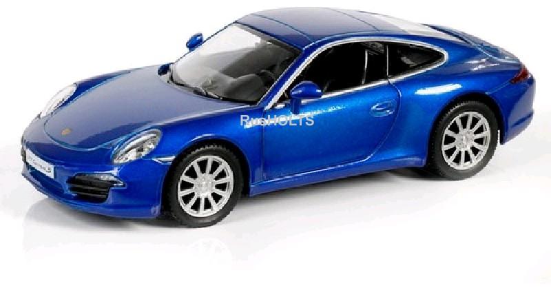 Игр.модель 1:32 Porsche 911 Carrera S, инерционная, цвет: синий металлик
