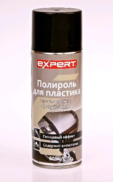 EXPERT Полироль для пластика, ваниль, 505мл, аэро