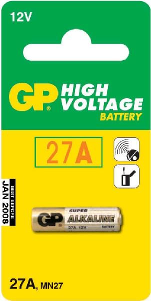 GP батарейки Super 27А, блистер 1 шт., 27A-BC1 10/600
