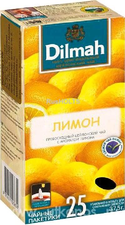 Чай Dilmah черный Lemon уп 25 пак