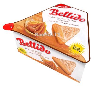 BELLIDO Пшенично-рисовые вафли с кремом со вкусом соленой карамели