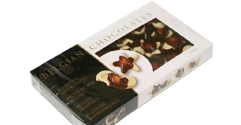 BELGIAN CHOCOLATES Шок.конфеты, Морской мотив 250 гр (12 шт в кор)