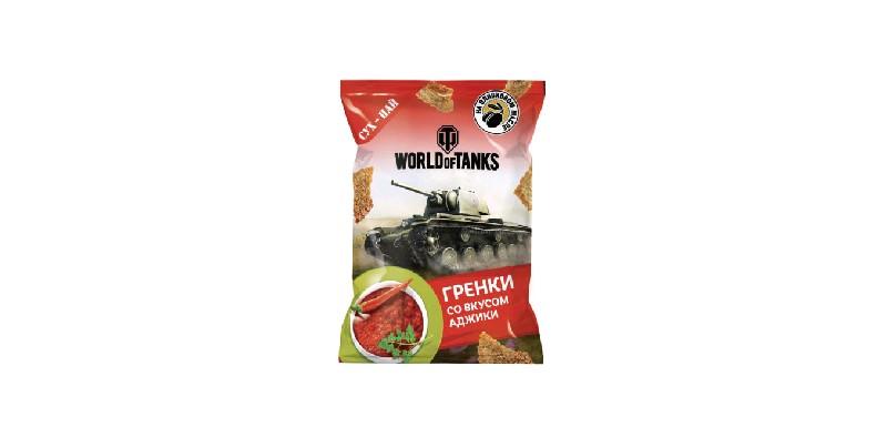 Гренки пшенично-ржаные со вкусом АДЖИКИ 50 г