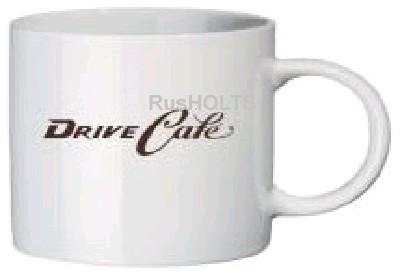 Drive Cafe кружка с лого, керамика, белая
