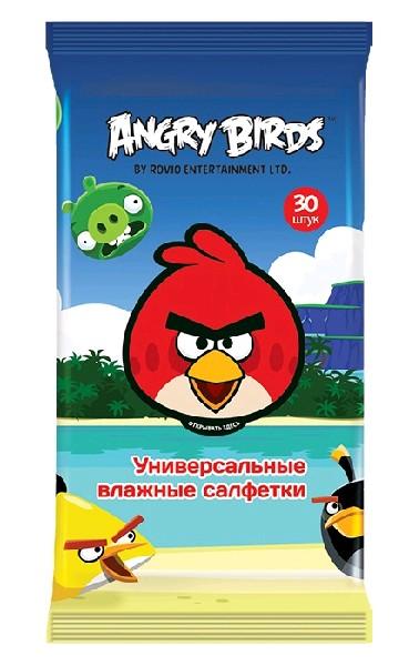 Angry Birds Влажные салфетки универсальные 30 шт