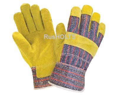 Газпромнефть перчатки швейные спилковые комбинированные 1 пара