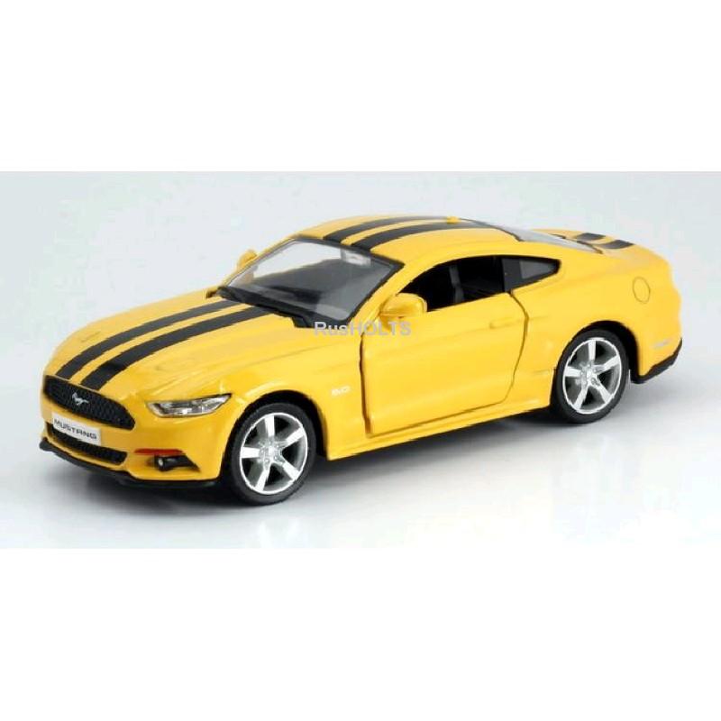 Игр.модель 1:32 Ford 2015 Mustang, инерционная, цвет: красный/желтый