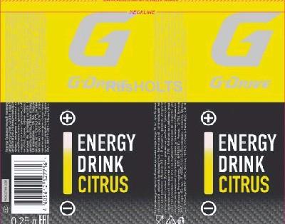 РБ G-Drive Энергетический напиток Цитрус 0,25л ж/б, 12 шт
