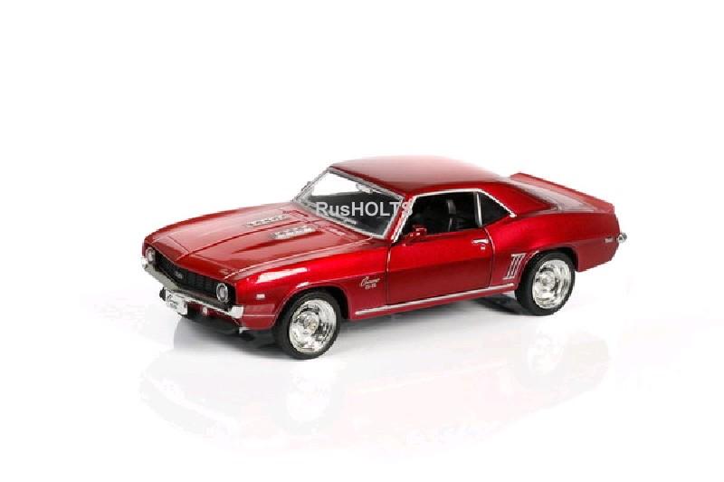 Игр.модель 1:32 Chevrolet Camaro SS 1969 инерционная, цвет: красный металлик