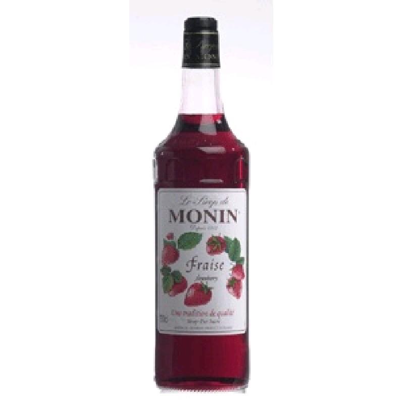 Сироп MONIN пастеризованный со вкусом и ароматом клубники