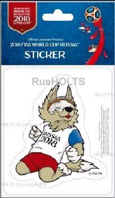 FIFA Наклейка на автомобиль Забивака с мячом в руке 14,8 х 21 см