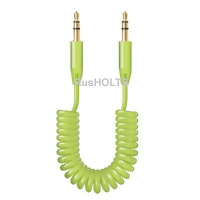 AUX аудиокабель 3.5мм-3.5мм, витой, зеленый, Deppa