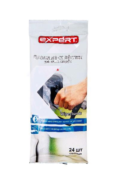 EXPERT Салфетки очищающие для рук, пропитанные, 24 шт.