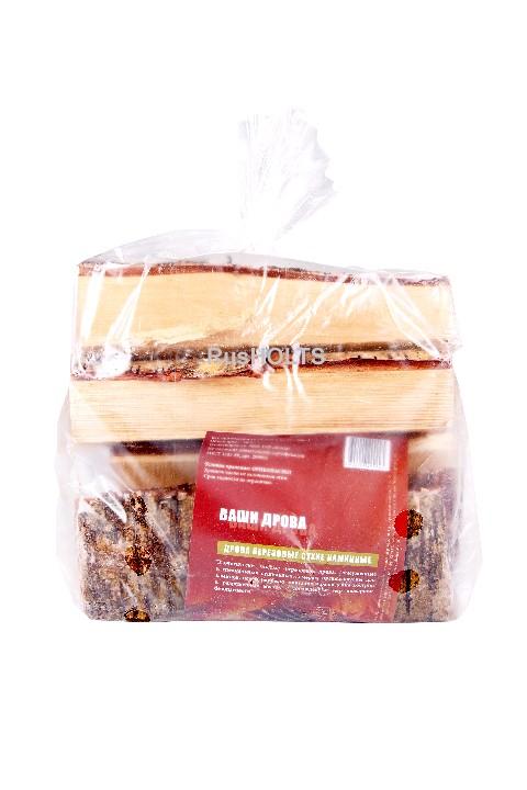 Дрова березовые сухие 10л  в полиэтиленовой упаковке (5 кг)