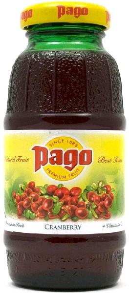 Сок Pago Клюква (Cranberry) 0,2х24 бут