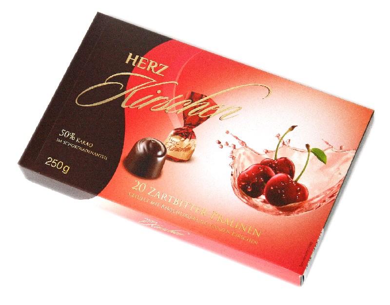 SAROTTI Шок.конфеты, вишня в ликере 250 гр (10 шт в кор)