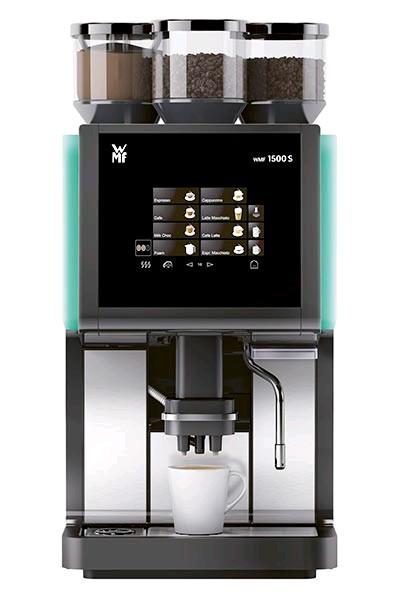 """Кофе-машина WMF """"1500S"""",  Basic milk, 1 кофемолка, Дуо комбисток"""