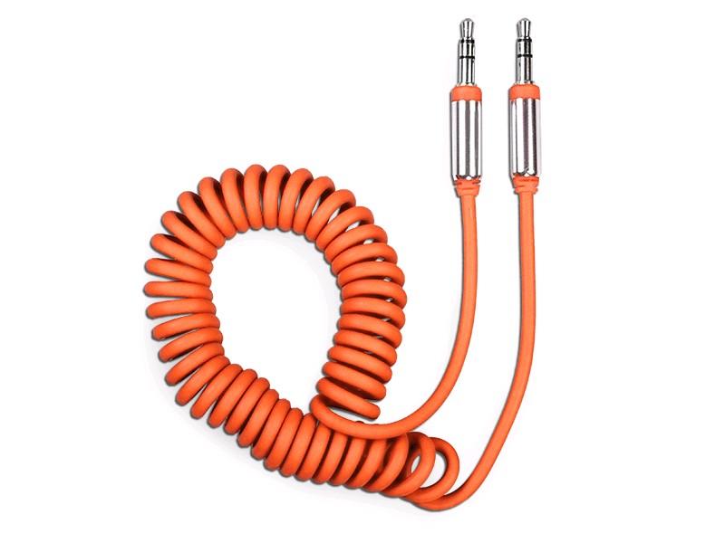 OLMIO Аудиокабель AUX 3.5мм(m)-3.5мм(m), длина 1.8м, витой провод, мет.