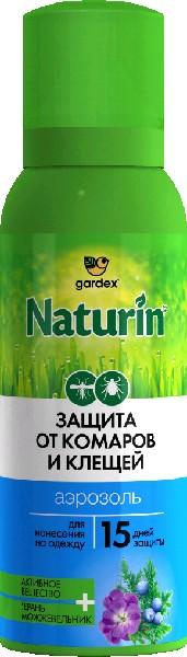 Naturin Аэрозоль от комаров и клещей на одежду 100 мл