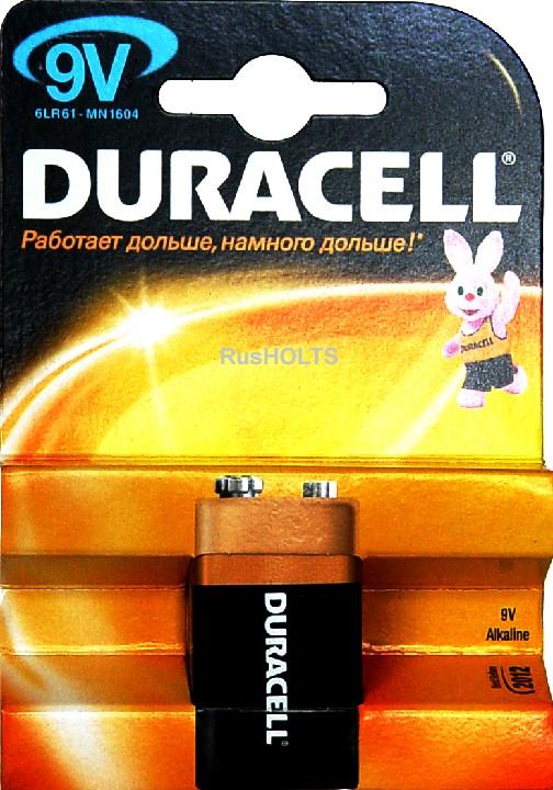 Бат.DURACELL 6LR61  (кор.10 шт) 9V