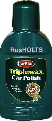 CarPlan Triplewax Полироль 3-х компонентная для простой краски, 375мл (TWL375)