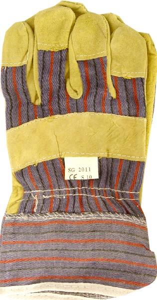 Перчатки комбинированные, спилковые