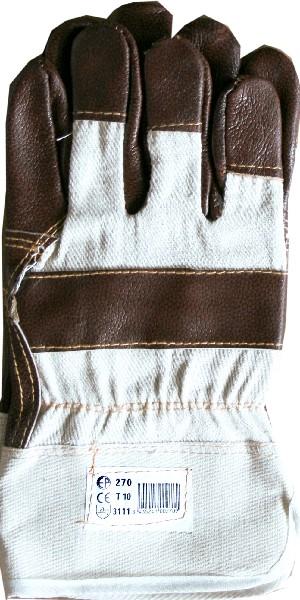 Перчатки комбинированные, кожаные