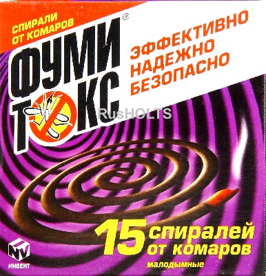 """ФУМИТОКС"" спираль от комаров ЗЕЛЕНАЯ 15 шт, Powerthrin"