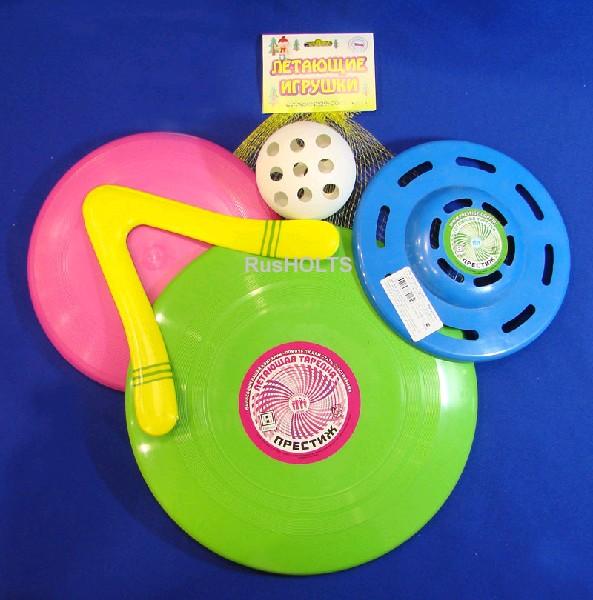 """Летающая игрушка №4(Летающая тарелка """"Гигант"""", Летающая тарелка """"Фигурная"""", летающая тарелка, Бумеранг """"Фигурный"""", Мяч)"""