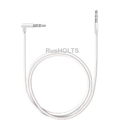 AUX Slim аудиокабель 3.5мм-3.5мм, L коннектор, 1.2м, белый, Deppa