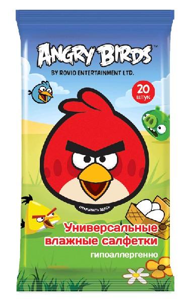 Angry Birds Влажные салфетки универсальные 20 шт.