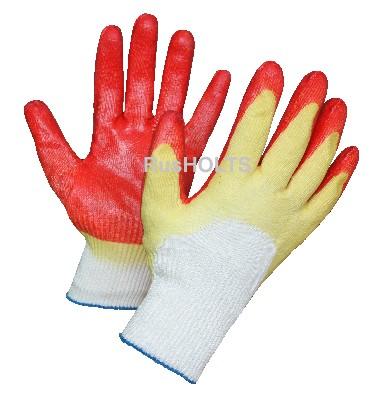 Перчатки с двойным латексным обливом глубокого макания