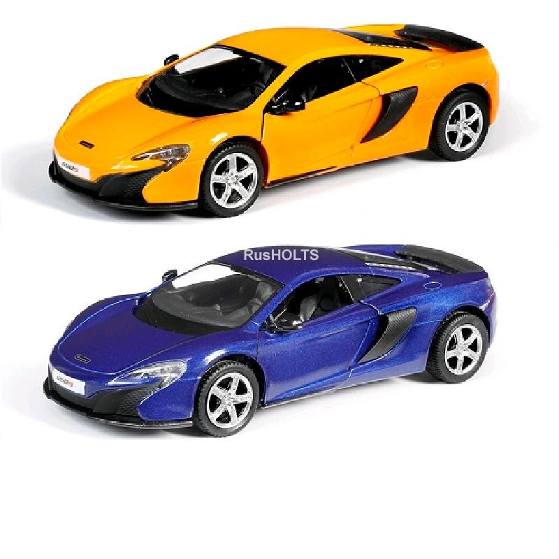 Игр.модель 1:32 McLaren 650S, инерционная, цвета: желтый/синий
