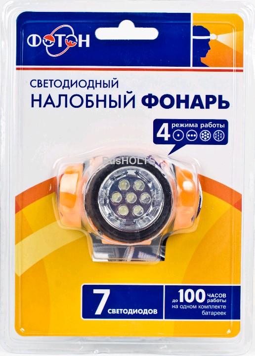 """Фонарь налобный """"ФОТОН"""" SH-0407-1 (3хR03) Yellow (7 светодиодов)"""