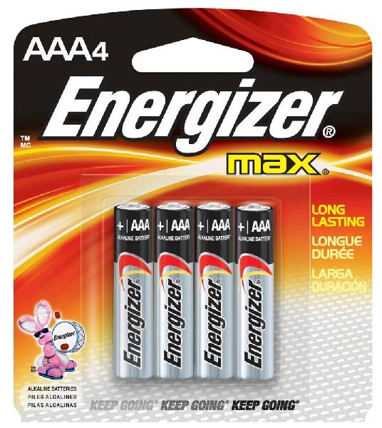 Energizer MAX Батарейки алкал. LR3 BP4, AAА 4шт.