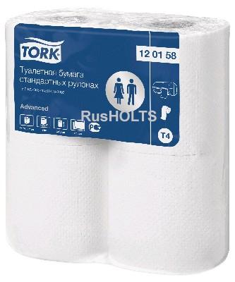 Туалетная бумага в стандартных рулонах 32 м.,2-слоя  (4 рул) Торк Адв. 120158