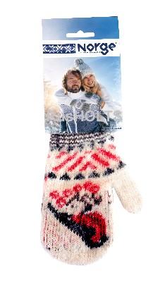 Варежки детские трикотажные, Снегирь