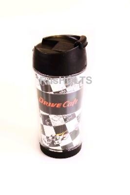 DRIVE CAFE Термокружка 350мл, пластик, гонки-флаг