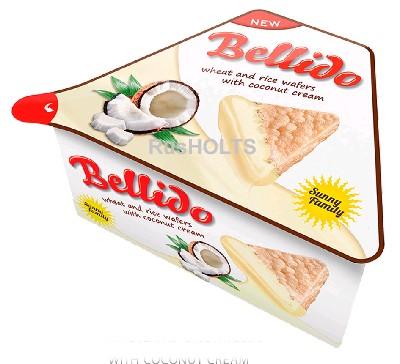 BELLIDO Пшенично-рисовые вафли с кокосовым кремом