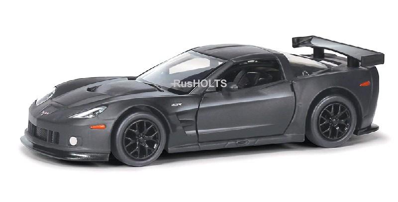 Игр.модель 1:32 Chevrolet Corvette C6.R, инерционная, цвет: серый матовый