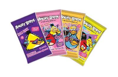 Angry Birds school Влажные очищающие салфетки mix 10 шт